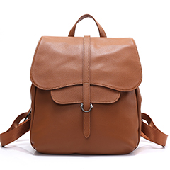Flap Over Function Leather Backpack LH2462_3 Colors