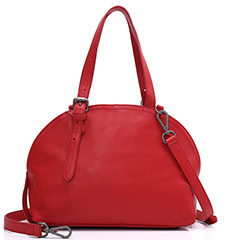 Dome Leather Tote Top Handle Bag LH1855_3 Colors