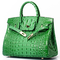 35cm Crocodile Embossed Leather Tote LH1633L_10 Colors