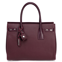 Plum Ladies Real Leather Tote LH2489