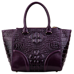 Large Crocodile Pattern Real Leather Tote LH2490_5 Colors
