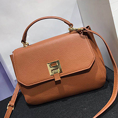 Flap Real Leather Top Handle Bag LH2498S_5 Colors