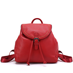 Cute Genuine Leather Backpack LH2503_2 Colors