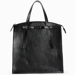Black Cowhide Real Shoulder Bag LH2220