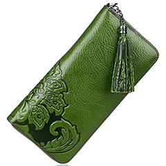 Floral Pattern Genuine Leather Purse LH2026_2 Colors