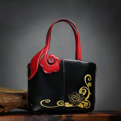 Classic Genuine Italian Leather Tote Bag LH2282S_2 Colors