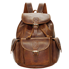 Functional Pockets Distress Leather Backpack LH2288