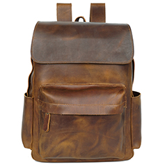 Practical Pockets Distress Leather Backpack LH2289