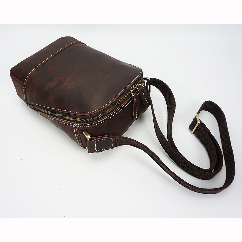 Real Distress Leather Cross Body Bag LH2293