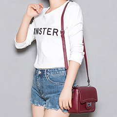 Genuine Leather Cross Body Bag LH2298_2 Colors
