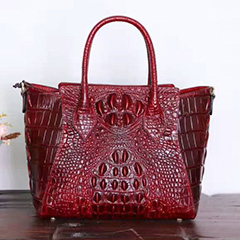 Crocodile Embossed Real Leather Tote LH2022_4 Colors