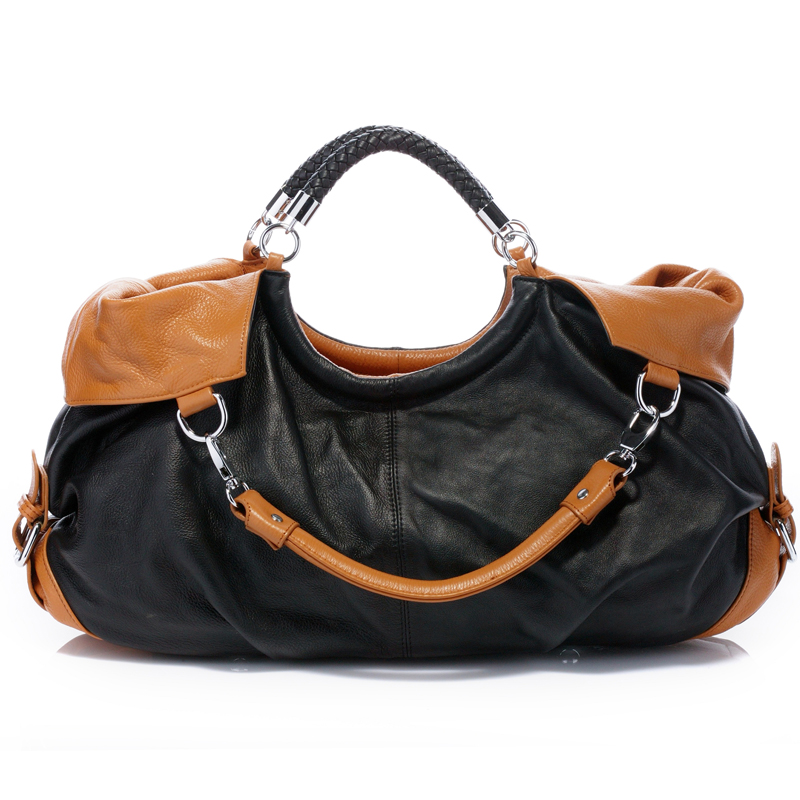 Honor Black Leather Tote LH031