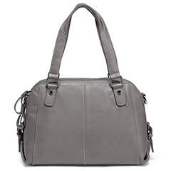 Grey Functional Genuine Leather Shoulder Bag LH2486