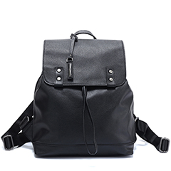 Flap Over Real Leather Backpack LH2542_3 Colors
