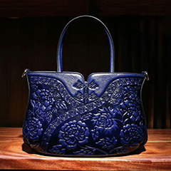 Floral Pattern Leather Tote LH1755_3 Colors