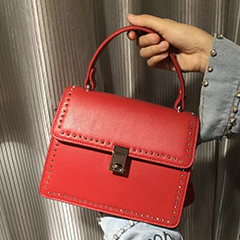 Flap Over Leather Satchel Bag LH2594_4 Colors