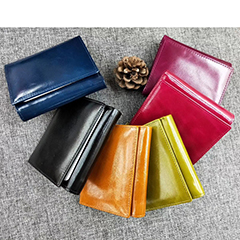 Trifold Distress Leather Wallet Card Holder LH2607_6 Colors