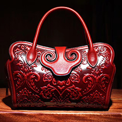 Floral Genuine Leather Tote LH2009A_3 Colors