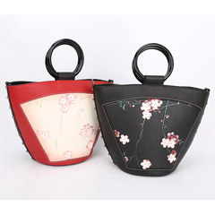 Flower Pattern Genuine Leather Purse for Ladies LH2625B_2 Colors