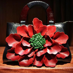 Womens Flower Pattern Genuine Leather Bag LH2639