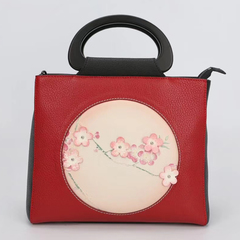 Flower Pattern Genuine Leather Handbag LH2624B_2 Colors