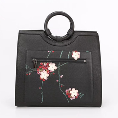 Flower Pattern Genuine Leather Purse LH2623B_2 Colors