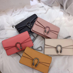 Flap Over Genuine Leather Crossbody Bag LH2647_5 Colors