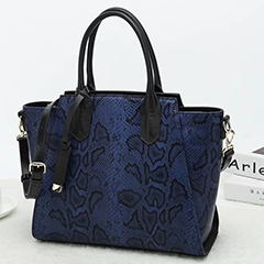 Python Embossed Leather Tote Bag LH2651S_3 Colors