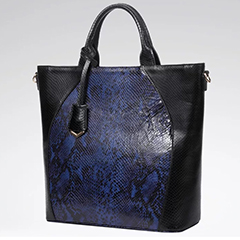 Python Effect Leather Tote Bag LH2652