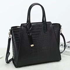 Crocodile Embossed Leather Tote Bag LH2651S_6 Colors
