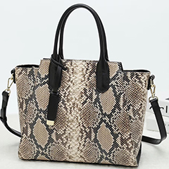 Python Embossed Leather Tote Bag LH2651L_6 Colors