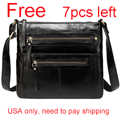 Black Multi Pockets Crossbody Shoulder Bag LH2550