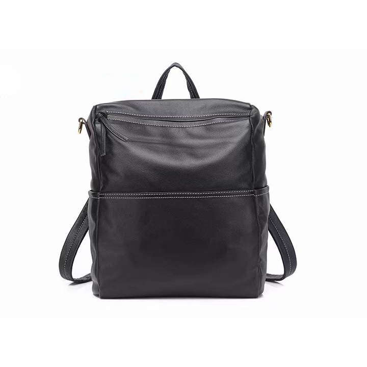 Capacity 2 Sections Real Leather Backpack LH2661