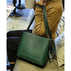 Pebbled Leather Barrel Bag LH2669_4 Colors