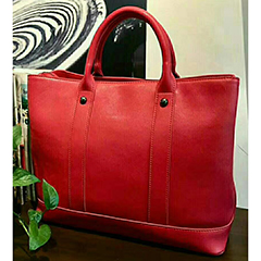 Large Real Leather Tote Bag LH2671_4 Colors