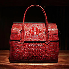 Designer Crocodile Embossed Leather Tote Bag LH2683L_5 Colors