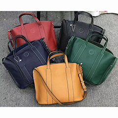 Real Leather Organizer Bag Shoulder Handbag LH2691_3 Colors