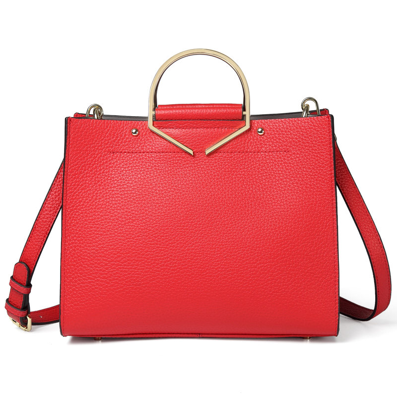 Red Large Luxury Womens Leather Tote Bag LH2700