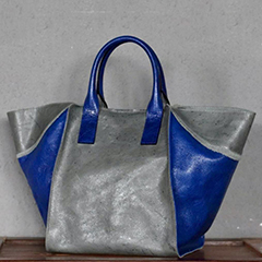 Wings Color-blocked Real Leather Tote Bag LH2711_3 Colors