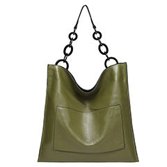 Green Cowhide Real Leather Slouchy Shoulder Purse LH2716