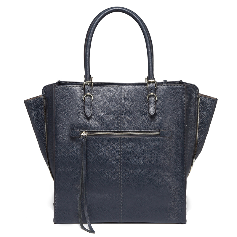 Navy Blue Multi-Shape Real Leather Top Handle Satchel Designer Handbag For Women LH2736