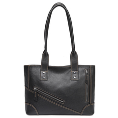 Black Leather Tote Shoulder Bag Multi Pockets Designer Handbags for Ladies LH2734