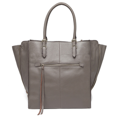 Grey Multi-Shape Real Leather Top Handle Satchel Designer Handbag For Women LH2736