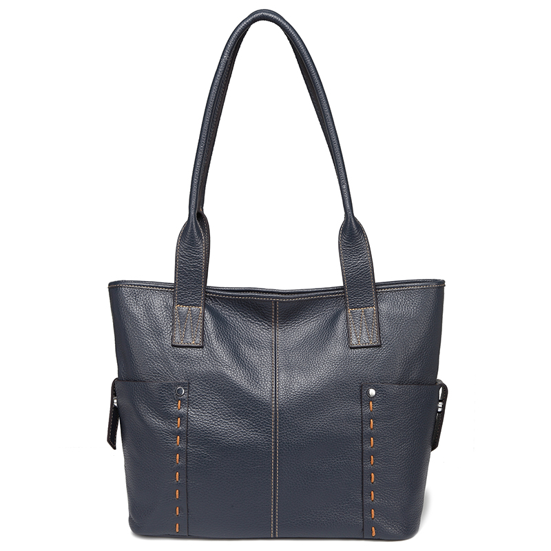 Dark Blue Large Size Pockets Women Shoulder Bags and Handbags Top Handle Bag LH2733