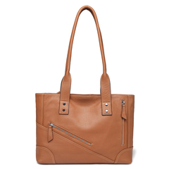 Brown Leather Tote Shoulder Bag Multi Pockets Designer Handbags for Ladies LH2734