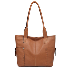 Brown Large Size Pockets Women Shoulder Bags and Handbags Top Handle Bag LH2733