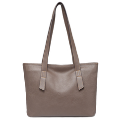 Taupe Designer Large Leather Shoulder Bag Tote Handbags For Women LH2732
