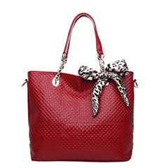 Red Leather Shoulder Bag Women Leather Handbag LH609
