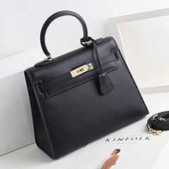 32cm Padlock Real Leather Satchel Bag Women Purse LH2740L_9 Colors