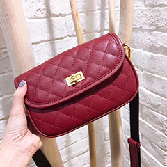 Quilted Genuine Leather Crossbody Bag LH2757_2 Colors